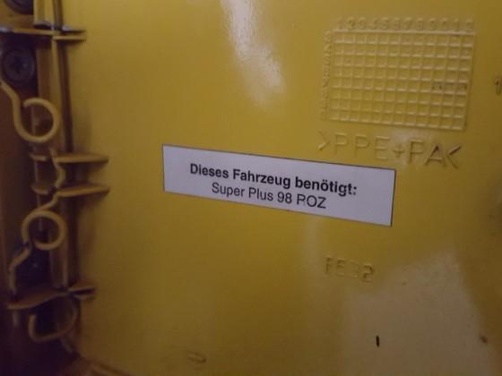 Orginal Novitec Turbo Tankhinweisbapperl