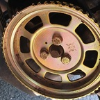 Reifen auf der Riemenscheibe